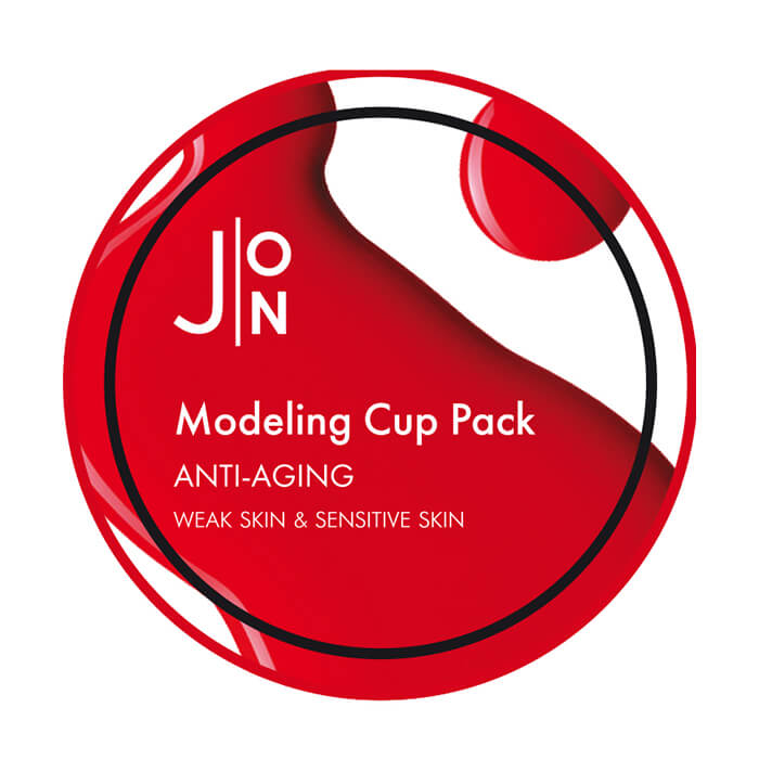 картинка J:ON Anti-Aging Modeling Pack Альгинатная антивозрастная маска для лица, 18 мл от интернет-магазина mom-me.ru