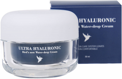 картинка ESTHETIC HOUSE Крем для лица ЛАСТОЧКА и ГИАЛУРОН Ultra Hyaluronic acid Bird's nest Water- drop Cream от интернет-магазина mom-me.ru