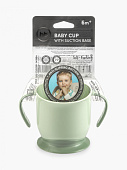 картинка Happy Baby Кружка на присоске Baby Cup With Suction Base, 6+ от интернет-магазина mom-me.ru